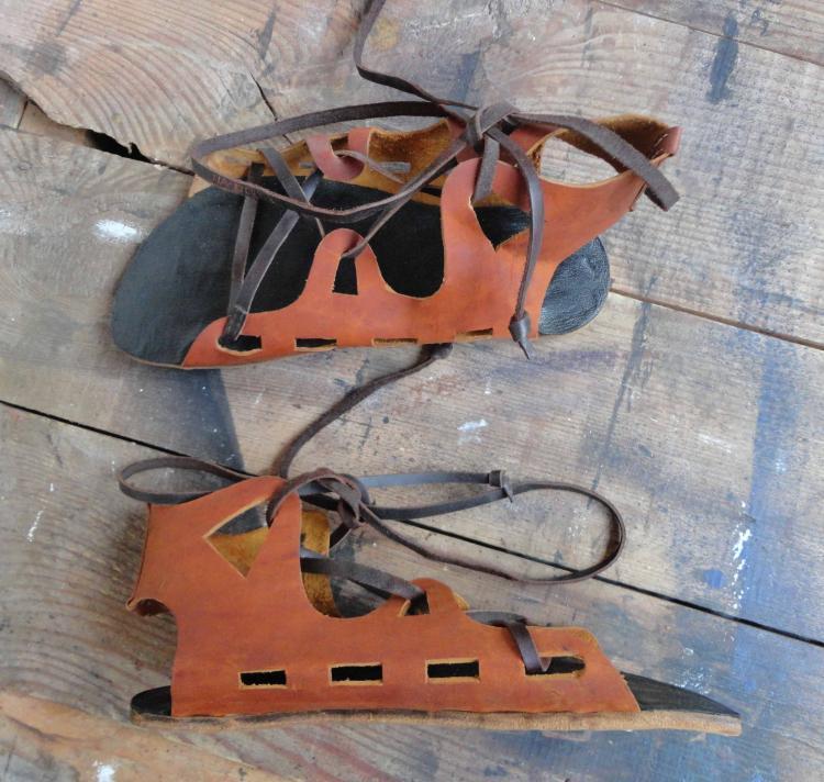 Гражданские римские сандалии.